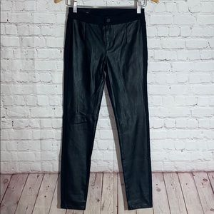 Armani Exchange Vegan Leather Jeggings